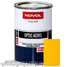 Автоэмаль акриловая NOVOL Optic LADA 1035 цвет желтый 0.8, без отвердителя